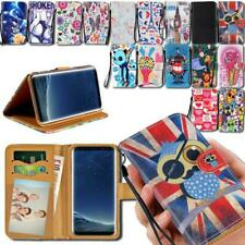 Flip Leather Smart Stand Wallet Cover Case For Samsung Galaxy Note Phones