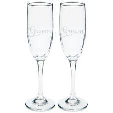 Groom & Groom Champagne Glass Set