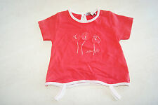 Tee-shirt rouge neuf taille 6 mois marque Baby's Line