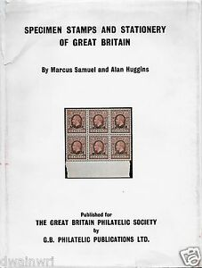"""""""Specimen Stamps and Stationery of Great Britain"""" by Samuel & Huggin, Hardcover"""