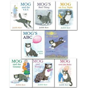 Mog The Cat 8 Books Children Collection Paperback Gift Pack Set By Judith Kerr