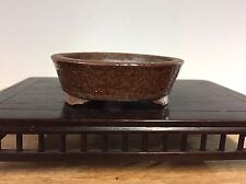 Accent Size Bonsai Tree Pot Made By Fujikake Yuzan. Great Glaze 2 3/4""