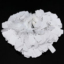 AU 500pcs White Tags Label Paper String Tie Swing Jewellery Clothe