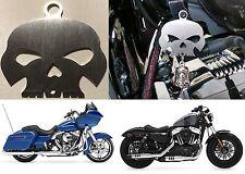 Skull Bell Hanger Mount For Harley Davidson Motorcycles & More New Free Shipping