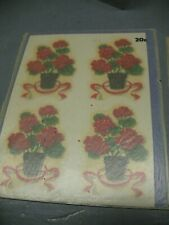 Meyercord 1940's Decals (4) 842 -A Potted Flowers In Original Glassine
