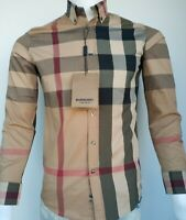 New Shirt  Burberry Button  Men's Cotton  Auth With Bag Fast Shipping  and free