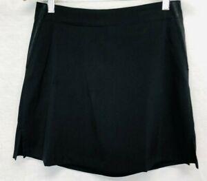 Lady Hagen Skort Size 4 Womens Tennis Gold Solid Black Skirt Look
