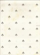 Small Dotted Fleur Di Lis on Beige Faux Easy Walls Wallpaper SM21682