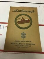 Vintage 1928 BSA Leathercraft Merit Badge Series booklet Boy Scouts America
