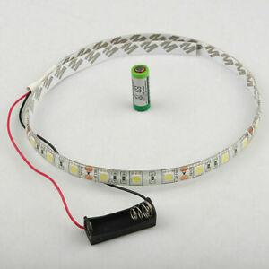 DC12V Battery Powered LED Strip 5050 SMD 3led - 30 led White Waterproof Flexible