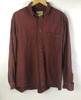Vintage Woolrich Mens XL Button Front Red Long Sleeve Shirt