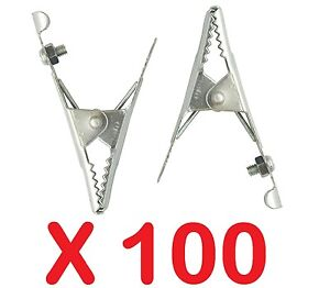 100 X 25 AMP CROCODILE ALLIGATOR CLIPS 25A BATTERY CHARGER CARAVAN ELECTRIC