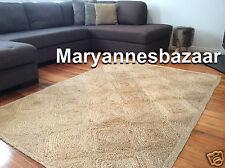 Extra Large Floor Rug Carpet Modern Designer Beige Jute 320x230 FREE DELIVERY