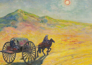 Postkarte: Vogeler - Mondnacht in der Usbekischen Wüste / 1940