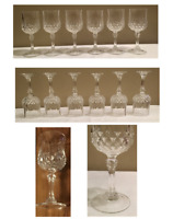 Vintage Cristal d'Arques Durand LONGCHAMP Cut Crystal 6 oz. Wine Glass Set of 6