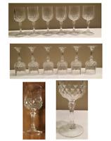 Vintage Cristal d'Arques Durand LONGCHAMP Cut Crystal 6 oz. Wine Glass Set of 6