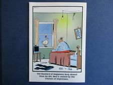 "The FAR SIDE 1988 Vintage Card - Blank Inside - ""The Chicken of Depression"""