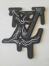 lv black slime patch iron on or sew on - 1 patch
