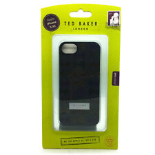 TED BAKER Sleek Design Hard Shell Protection Case Cover For iPhone 5/5s - Black