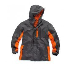 Scruffs Worker Jacket Mens Waterproof Work Coat Grey Orange Lightweight Raincoat XL - 46/48