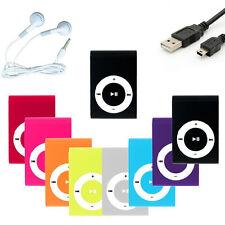 Mp3 Player Mini Schwarz Clip Musik Aluminium Micro SD bis 16GB + Zubehörpaket
