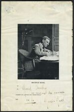 Maurice RAVEL (Composer): Signed Photograph