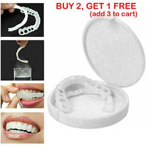 Smile Snap On Upper Bottom False Teeth Dental Veneers Dentures Tooth Cover SET