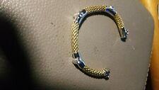 Gold 585 Armband mit Steine Top Zustand Weiss/Gelb