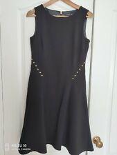 Black MidiIvanka Trump Dress Size 8 With Studs Details