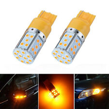 1X T20 W21W 7440 LED 35-SMD 3030 Canbus Tail Stop Brake Light Bulb Lamp Amber