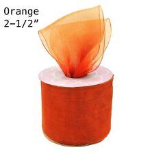 """Sheer Organza Ribbon Shimmer Birthday Wedding Gifts Wrapping 2-1/2"""" Diy Material"""