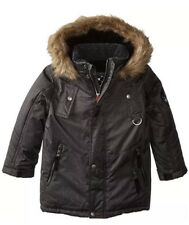 NEW BIG CHILL Boys Expedition Coat with Faux Fur Trimmed Hood- Size 5