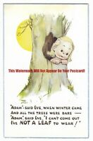 Mabel Lucie Attwell 'Adam Said Eve When Winter Came' Vintage Postcard 20.1
