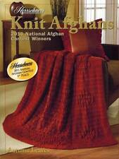 Herrschners Knit Afghans PATTERNS 2011 Leaves Blanket Cables Wrap Vines Throw
