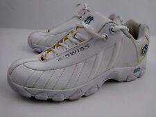 K-Swiss Shock Spring Women's White Leather Tennis Shoes Size 9