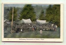 Dedicating Monument Tonino WASHINGTON *1907 Ezra Meeker*