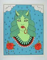 La Dama Demonio Poster Hokum Press Print Roses Snake
