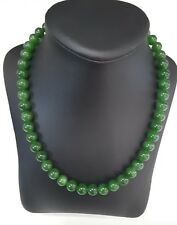 Miran 350050 Natural Green Jasper Beaded Necklace w/ Gold Clasp 45cm RRP$399