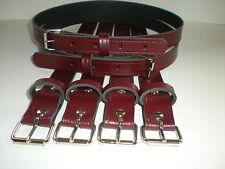 Coach built vintage pram real leather suspension straps in burgundy