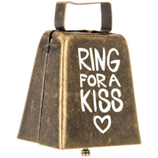 Ring For A Kiss Metal Cowbell Wedding Reception Gift Keepsake