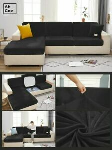 Velvet Cushion Sofa Cover For Living Room Elastic Cushion Covers Couch Covers