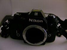 NIKON SLR Camera Black + Nikon Lens + WORKS Vintage EM 35 mm