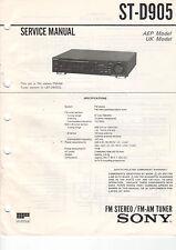 SONY Service Manual ST-D905 - B2021