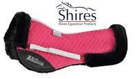 "Shires Performance Suede Half Pad Fleece Lined Pony/Cob 15"" to 16.5"" Raspberry"