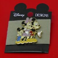Walt Disney Mickey Mouse Minnie Mouse Family Enamel Pin Badge on Backing Card