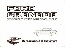Ford Granada Mk 2 2.1 Diesel 1981-82 Original Service Book all vouchers unused