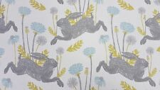 Clarke and Clarke March Hare Mineral Curtain Upholstery Craft Designer Fabric