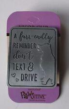 b DOG a Furr endly friendly reminder don't text & drive car VISOR CLIP angel