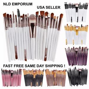 20Pcs Cosmetic Makeup Brushes Set Powder Foundation Eyeshadow Eyeliner Lip Brush