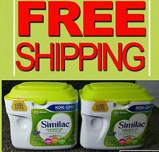 New! 2 Tubs Similac For Spit-Up NON- GMO Infant Formula Powder 1.41LB= 336oz